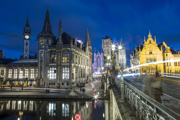 Gent, Belgium at day, Ghent old town © emirkoo