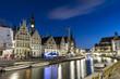 Leinwanddruck Bild - Gent, Belgium at day, Ghent old town