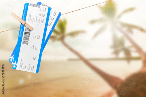 Boarding pass close up - 208888718