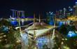 Singapore skyline at nigh