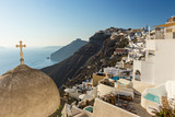 Old church dome on the edge of the town of Fira. - 208890543