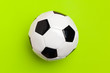 Soccer ball on a color background