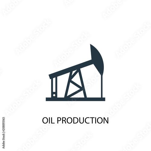 oil production icon. Simple element illustration
