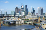 panoramischer anblick city of london - 208898787