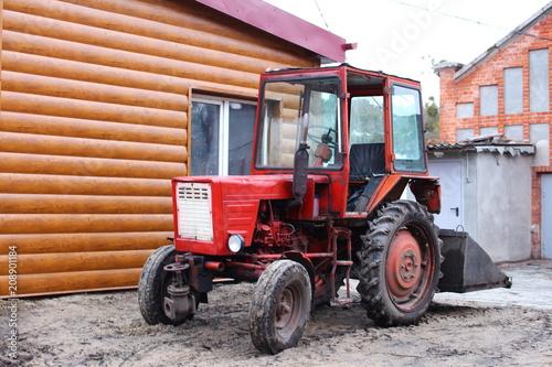 Fotobehang Trekker Soviet tractor ussr