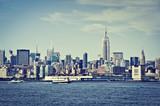 Manhattan skyline with the Empire State Building, New York, USA