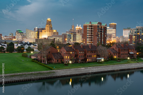 Foto Murales Skyline of Buffalo New York