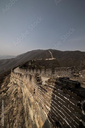 Aluminium Grijze traf. Chineschische Mauer an einem schönen Tag