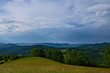 Mountain view over the Carpathian hills in the Poloniny national park in Slovakia - 208916590
