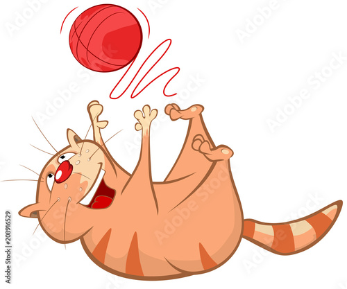 Aluminium Babykamer Illustration of a Cute Cat. Cartoon Character