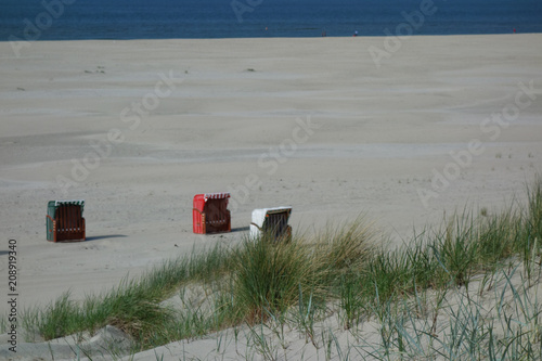 Aluminium Noordzee Sommer auf Juist