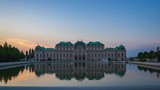 Time Lapse video of Belvedere Museum at sunset in Vienna, Austria timelapse 4K - 208920983
