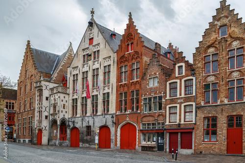 Wall mural Street in Bruges, Belgium