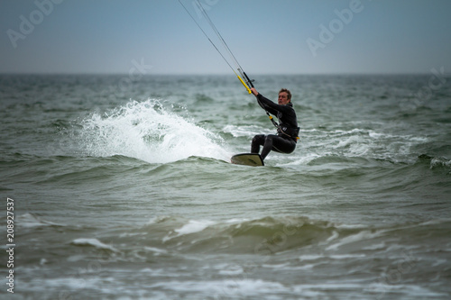 Fototapeta Kitesurfing in Bournemouth