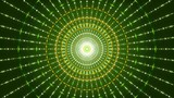 motion particles and flashing light, green abstract background, loop - 208934322