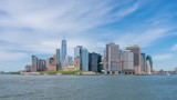 4k hyperlapse video of Lower Manhattan skyline in daytime - 208937923