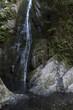 Water fall over rocks, Niagara Falls, Goldstream Provincial Park, Vancouver Island, British Columbia, Canada