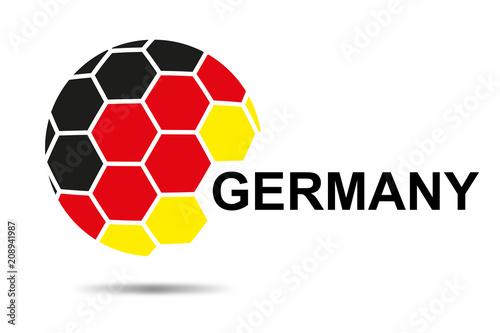 Fußball mit Deutschland Flagge