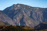 Autumn foothills and mountains in Niigata Prefecture in Japan