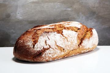 freshly baked bread isolated on white background