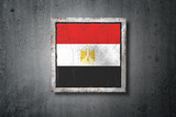 Egypt flag in concrete wall - 208962380