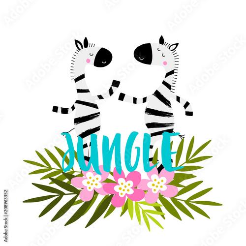 Cartoon zebras character.