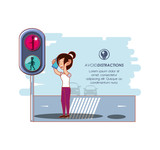 people in the street with a void distractions campaign - 208969711