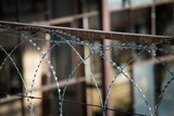 Barbed wire fencing for security purposes against thieves - 208975356