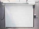 interior view of the system and mechanism of the electric automatic garage door - 208975374