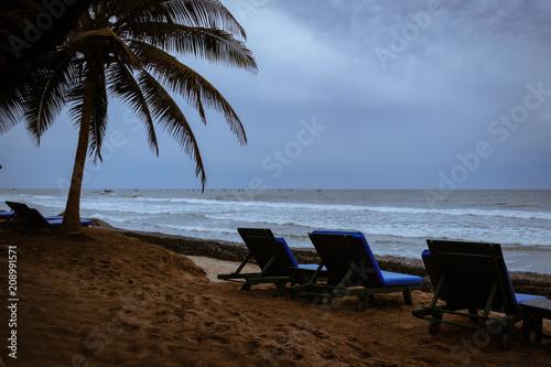 Fotobehang Tropical strand Resort 2