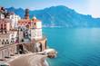 Leinwandbild Motiv The scenic village of Atrani, Amalfi Coast