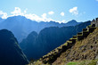 Steps at Machu Picchu With Impressive Mountains