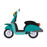 Scooter motorcycle isolated vector illustration graphic design