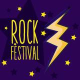 Rock festival cartoon - 209015981