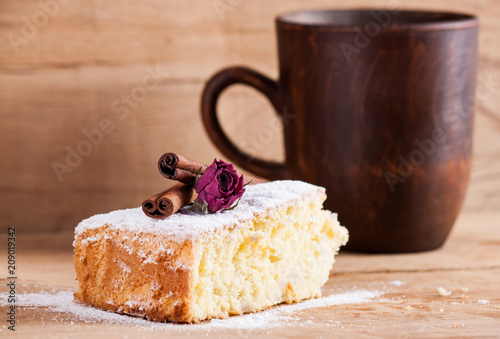 Wall mural biscuit cake and coffee cup