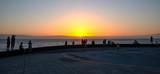 stunning sunset over the ocean