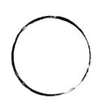 Schwarzer handgemalter Kreise - 209036988