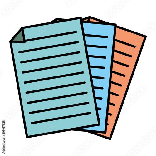 kolor biurowy biznes dokument papierowy ikona