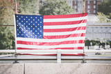 American flags on flagpoles - 209043954