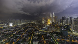 High angle view of cityscape Kuala Lumpur during night
