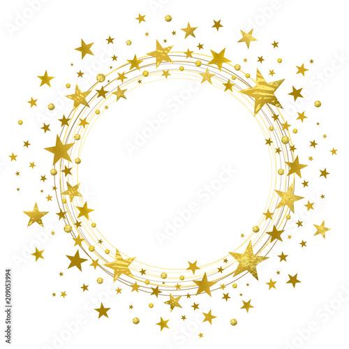 Wreath of Golden Stars - 209053994