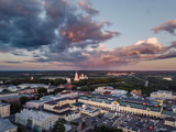 Aerial view on the center of the city of Vladimir and Assumption Cathedral on sunset. Vladimir. Russia. - 209054703