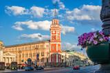 Городская дума в Санкт-Петербурге red building of the City Duma in St. Petersburg