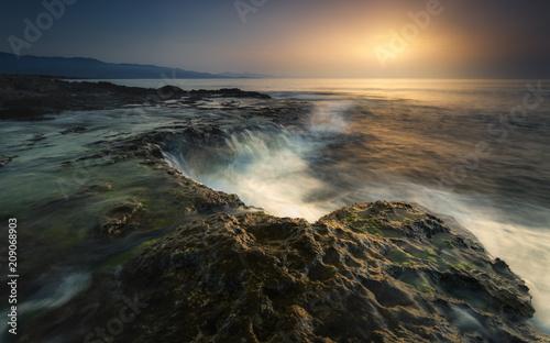 Fotobehang Zonsopgang Amanecer en Cabo Cope