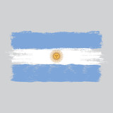 Flag of Argentina,watercolor brush style,vector - 209071991