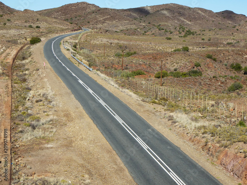 Fotobehang Route 66 South Africa, Capetown, Little Karoo, Route 66 - P1090597_opt