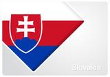 Slovak flag design background. Vector illustration.