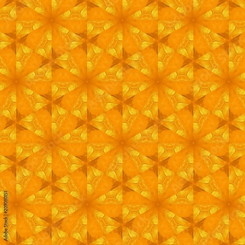 Seamless pattern background. Symmetric vintage fabric texture. Decor for design trendy fashion clothes, textile and print. High resolution desktop wallpaper. Template for hand made products decoration - 209080151