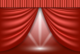 Theater curtains. Scene background - 209081532