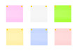 Multi-colored stickers.Stickers for notes with a button.